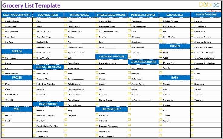 Grocery Shopping List Template Excel Unique 46 Best Images About List Templates Dotxes On Pinterest