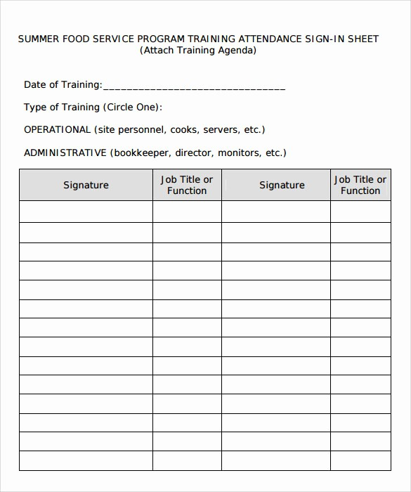 Group Sign In Sheet Template Inspirational 16 Sample Training Sign In Sheets