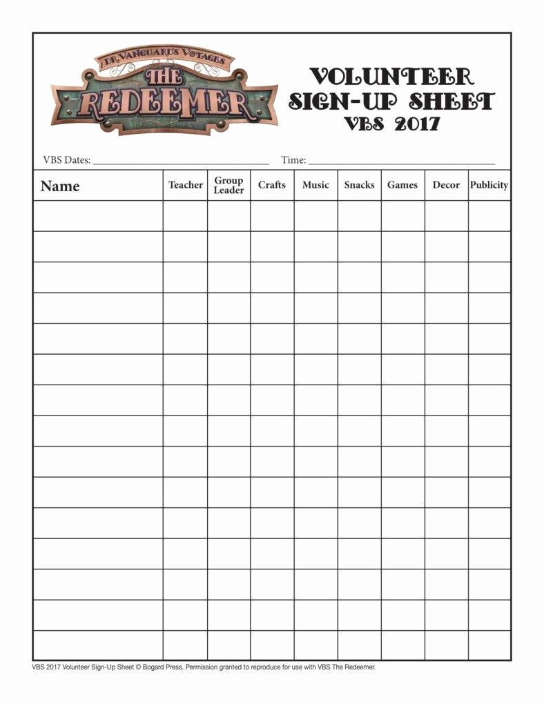Group Sign In Sheet Template Lovely 10 Volunteer Sign Up Sheet Templates Pdf