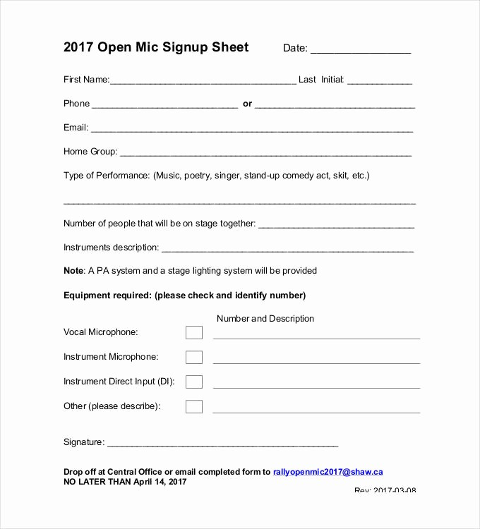 Group Sign In Sheet Template Luxury Sign Up Sheets 58 Free Word Excel Pdf Documents