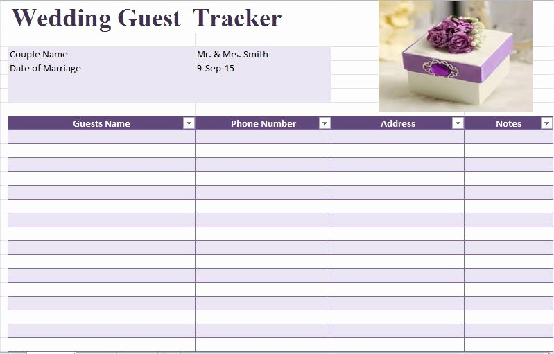 Guest List for Wedding Template Lovely 35 Beautiful Wedding Guest List & Itinerary Templates
