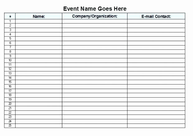 Guest Sign In Sheet Templates Best Of Guest List Sheet Template Visitor and Sub Sign In