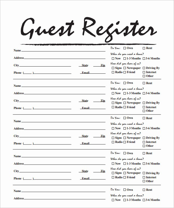 Guest Sign In Sheet Templates Elegant 14 Sample Open House Sign In Sheets