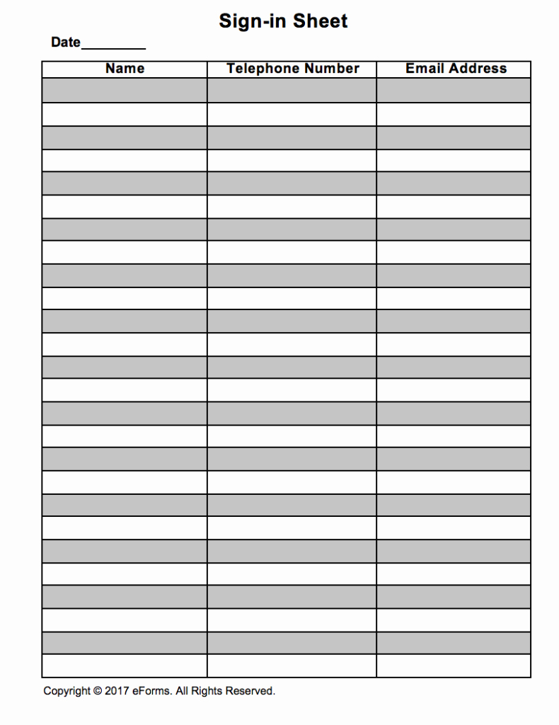 Gym Sign In Sheet Template Inspirational attendance Guest Sign In Sheet Template