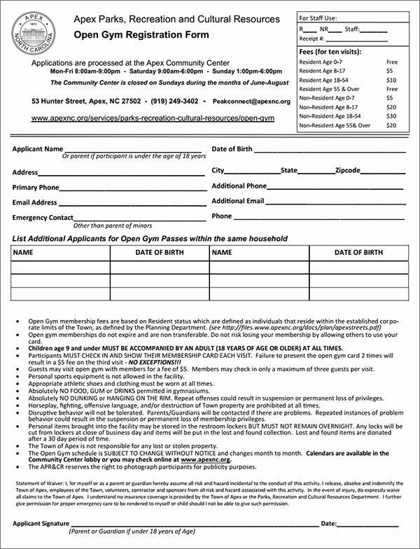 Gym Sign In Sheet Template Inspirational Job Application Template Microsoft Word