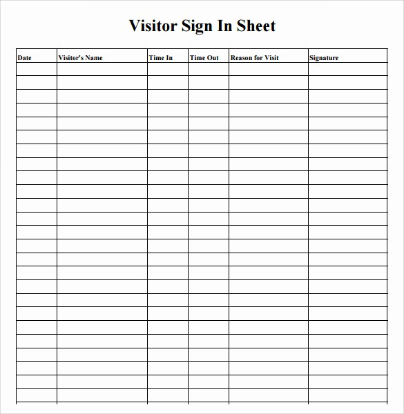 Gym Sign In Sheet Template Unique 7 Sample Medical Sign In Sheets