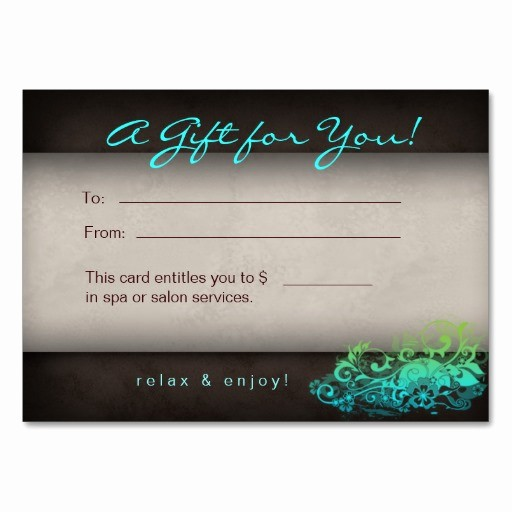 Hair Salon Gift Certificate Templates Awesome 10 Best Of Spa Gift Certificate Template Fillable