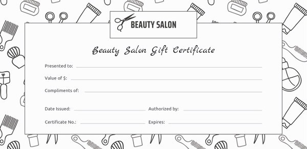 Hair Salon Gift Certificate Templates Awesome 155 Gift Certificate Templates – Free Sample Example