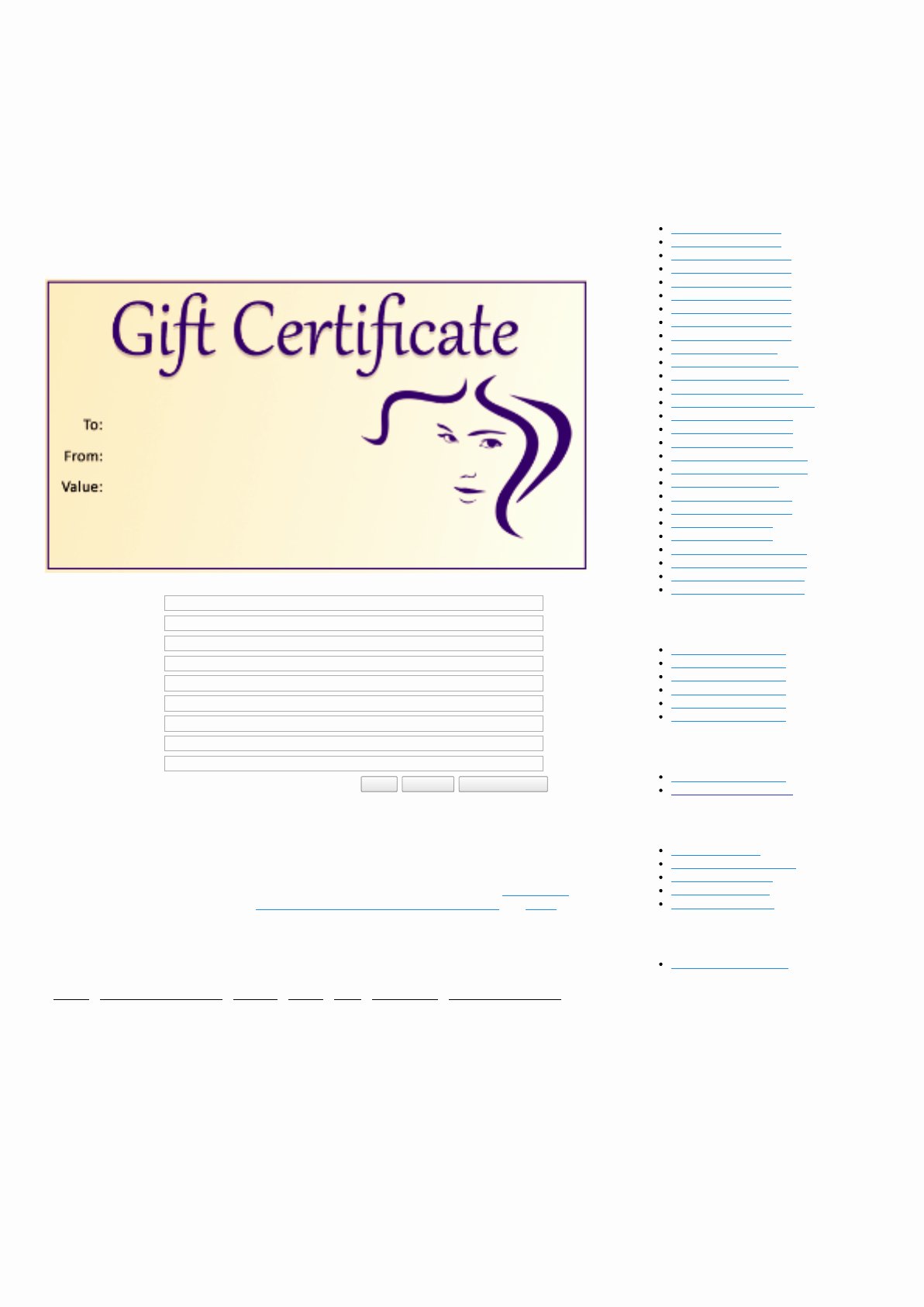 Hair Salon Gift Certificate Templates Awesome Download Hair Salon Gift Certificate Template for Free