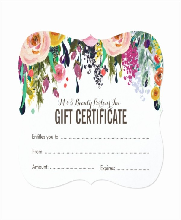 Hair Salon Gift Certificate Templates Beautiful Salon Gift Certificate Template 9 Free Pdf Psd Ai