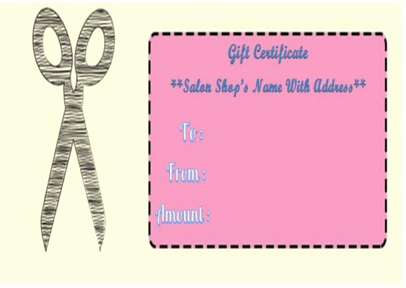 Hair Salon Gift Certificate Templates Elegant 21 Printable Salon Gift Certificate Templates to attract