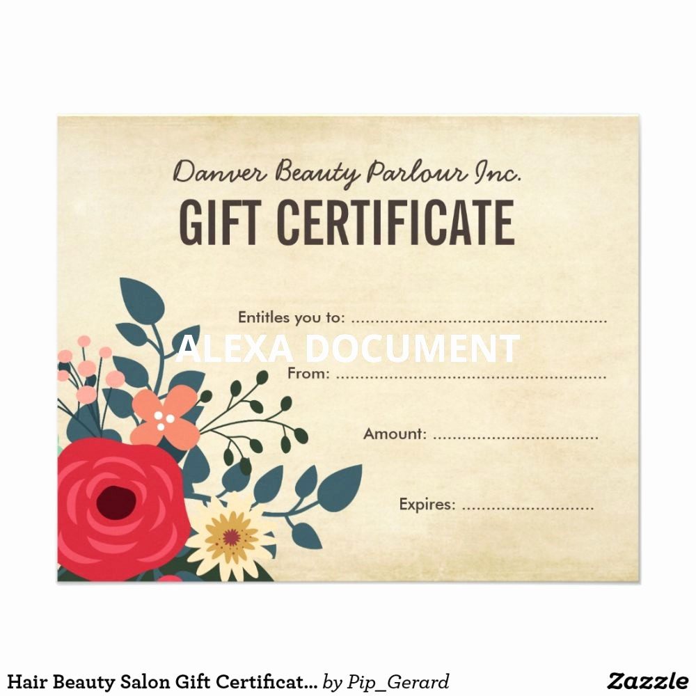 Hair Salon Gift Certificate Templates Fresh 38 Free Printable Hair Salon Gift Certificate Template