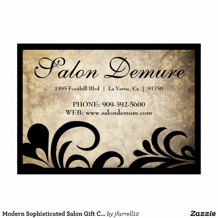 Hair Salon Gift Certificate Templates Fresh Salon Gift Certificate Template