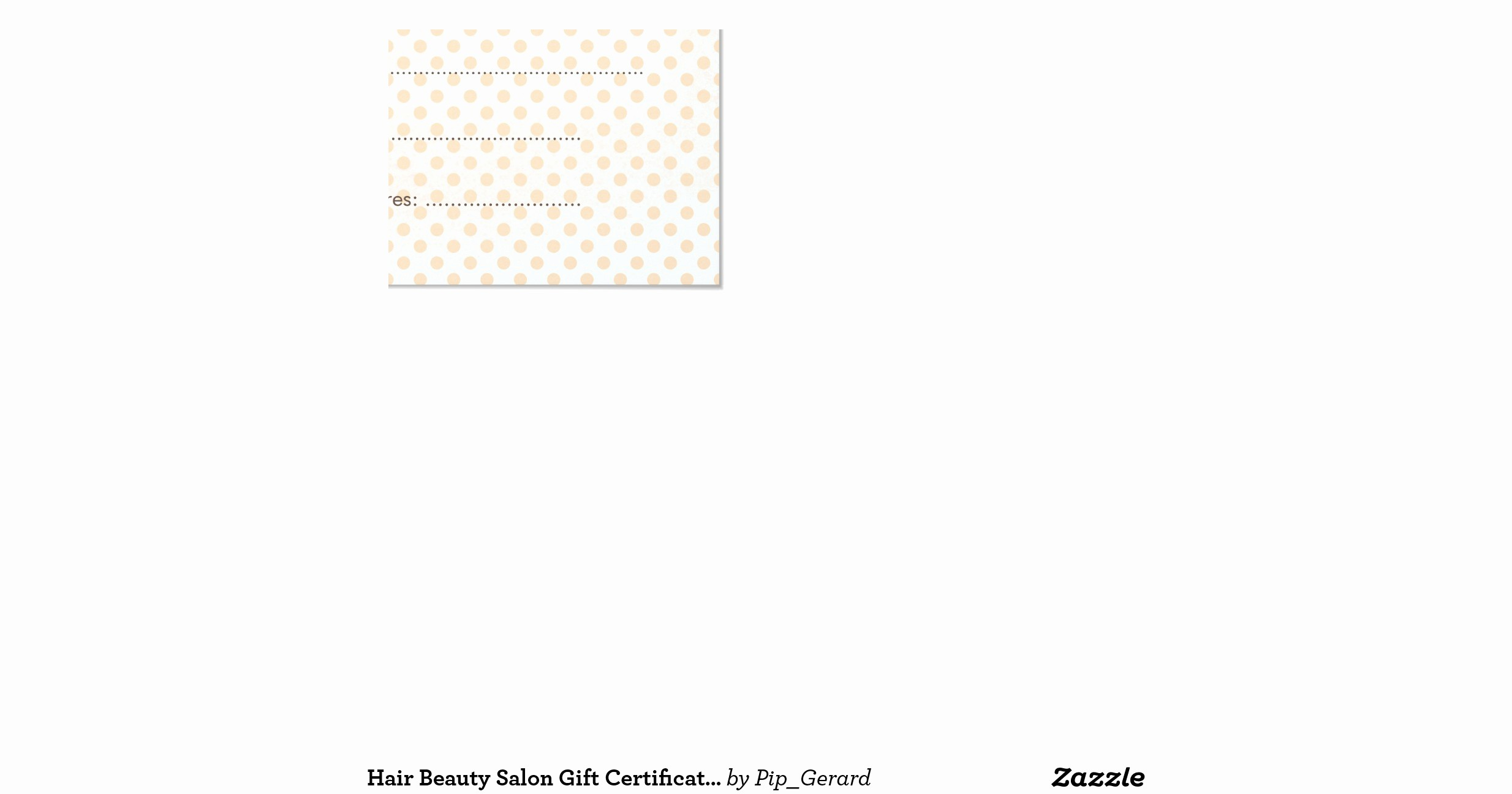 Hair Salon Gift Certificate Templates Lovely Hair Beauty Salon Gift Certificate Template 11 Cm X 14 Cm