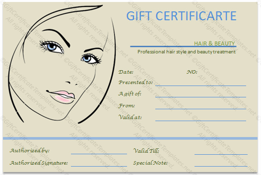 Hair Salon Gift Certificate Templates New Gift Voucher Templates Gift Certificate Templates