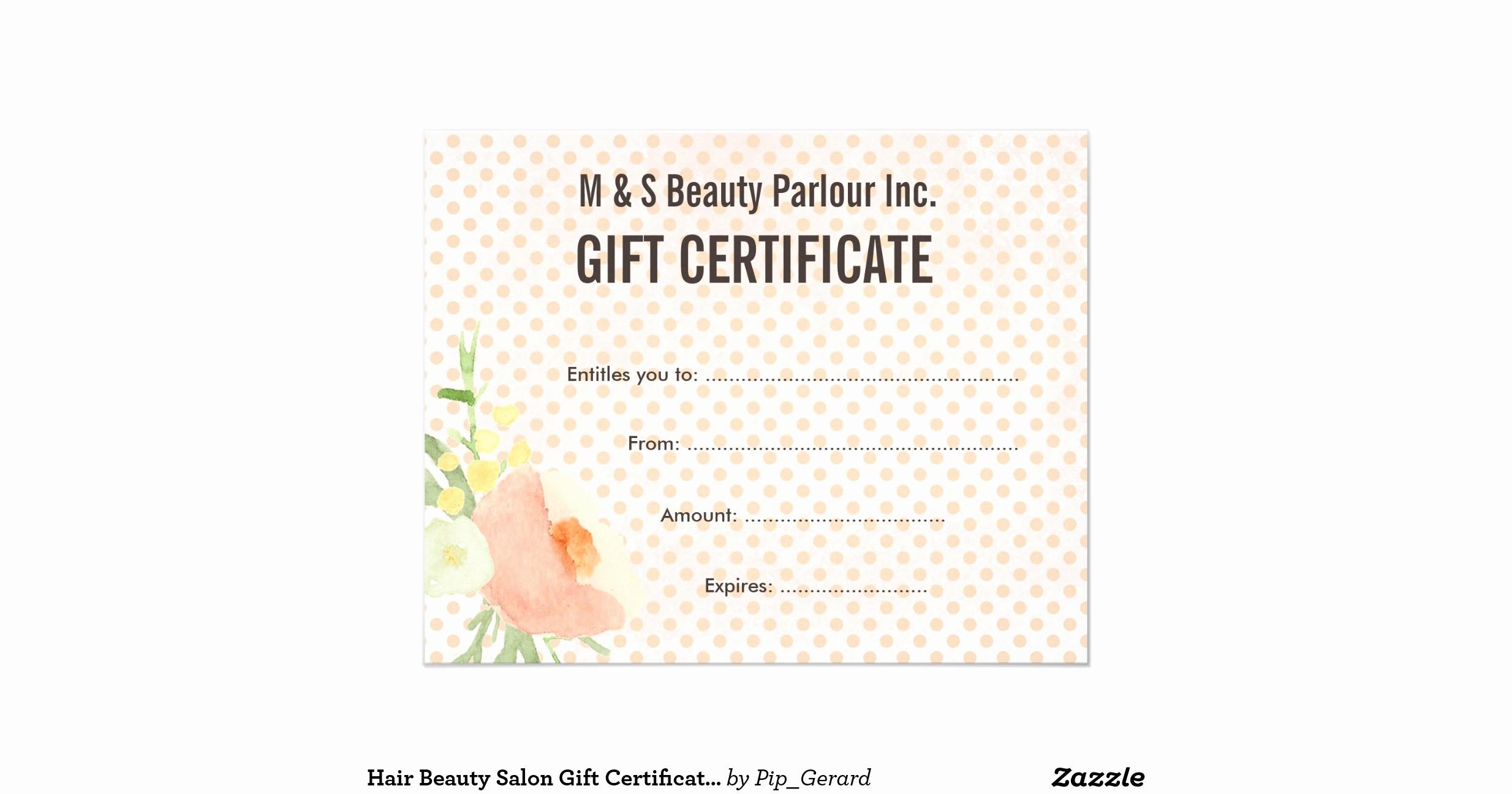 Hair Salon Gift Certificate Templates New Hair Beauty Salon T Certificate Template Flyer