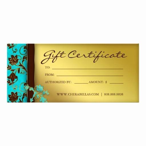 Hair Salon Gift Certificate Templates Unique 232 Gift Certificates Salon Spa Gold Floral