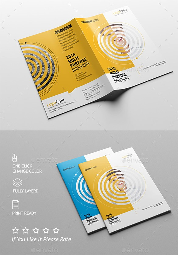 Half-fold Brochure Template Awesome 36 Half Fold Brochure Templates
