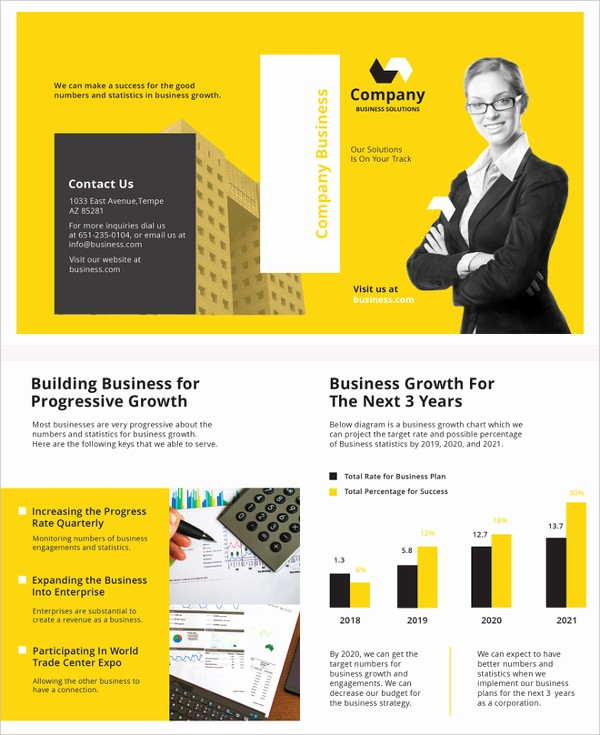 Half-fold Brochure Template Awesome Free Brochure Templates 60 Free Psd Ai Vector Eps