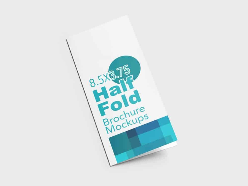 Half-fold Brochure Template Awesome Half Fold Vertical Brochure Mockups On Vectogravic Design
