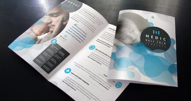 Half-fold Brochure Template Awesome Medic Bi Fold Brochure Template Brochure Templates
