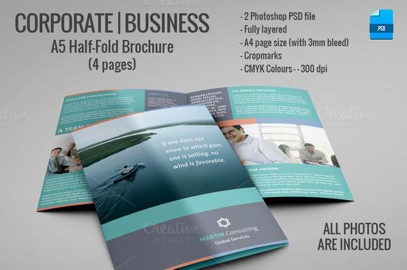 Half-fold Brochure Template Beautiful A5 Half Fold Brochure 4 Pages Brochure Templates On
