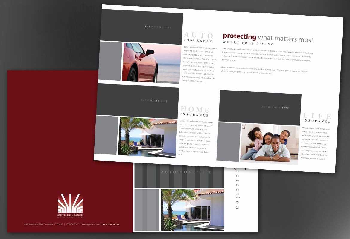 Half-fold Brochure Template Beautiful Half Fold Brochure Template for Insurance Agent Insurance