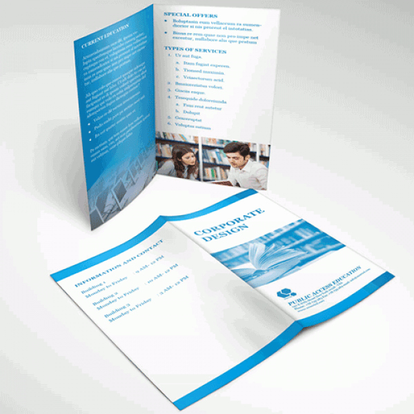 Half-fold Brochure Template Beautiful Half Fold Brochures & Menu Printing