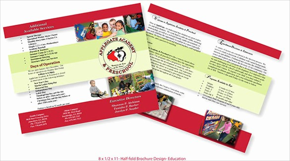 Half-fold Brochure Template Elegant 26 Half Fold Brochures