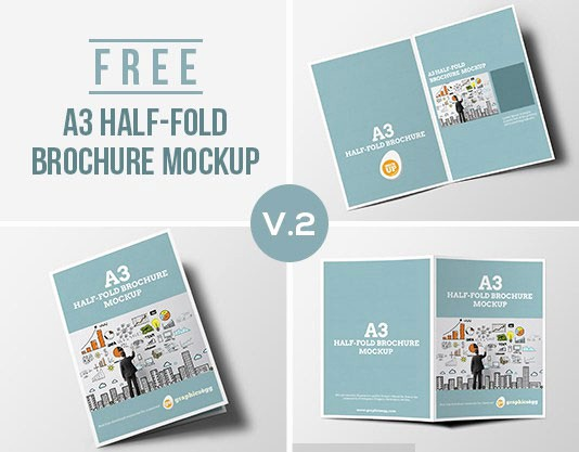 Half-fold Brochure Template Lovely 75 Free Brochure Mockup Templates for Your Designs