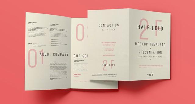 Half-fold Brochure Template Luxury Half Fold Brochure Template