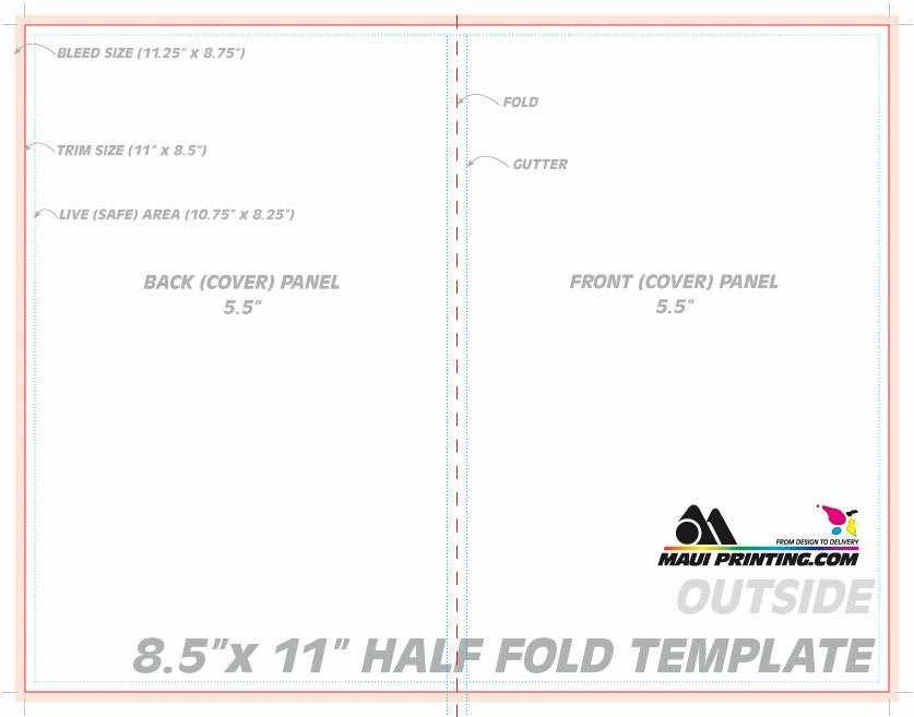 Half-fold Brochure Template Luxury Maui Printing Pany Inc 8 5 X 11 Half Fold Brochure