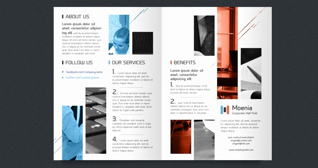 Half-fold Brochure Template Unique Moenia Bi Fold Brochure Template