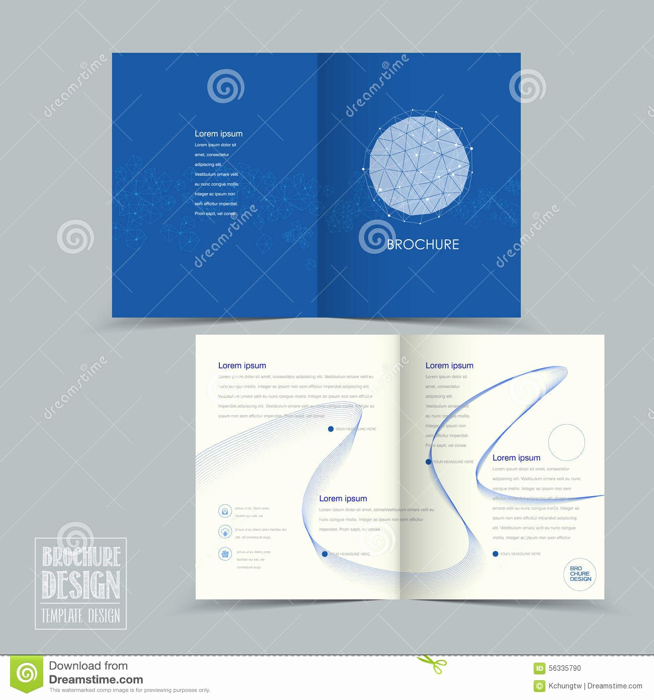Half-fold Brochure Template Unique Simplicity Half Fold Brochure Template Design Stock Vector