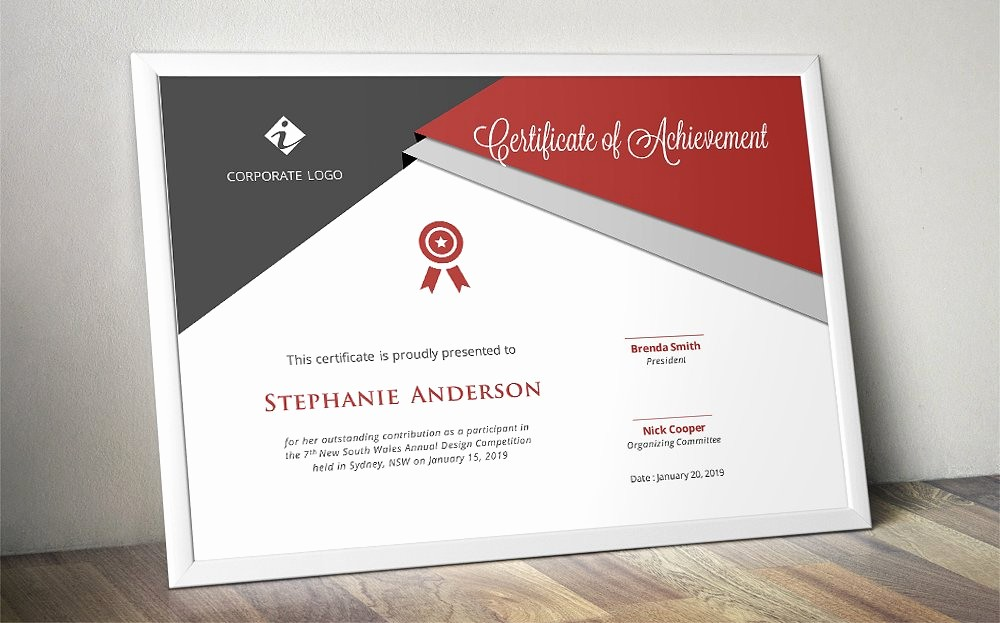 Hall Of Fame Certificate Template Beautiful Script Triangle Certificate Design Stationery Templates