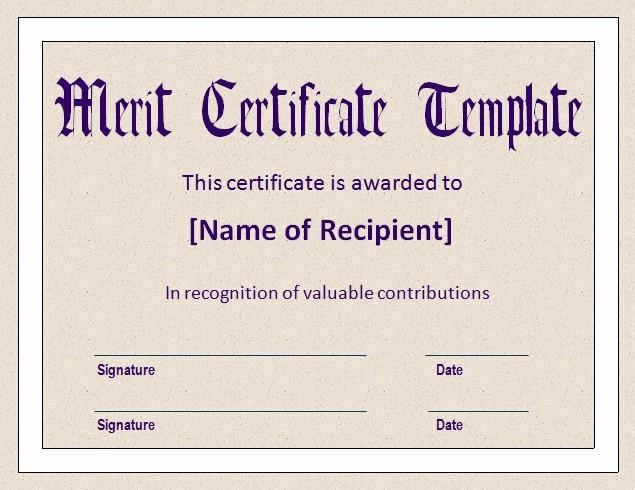 Hall Of Fame Certificate Template Elegant Merit Certificate Template
