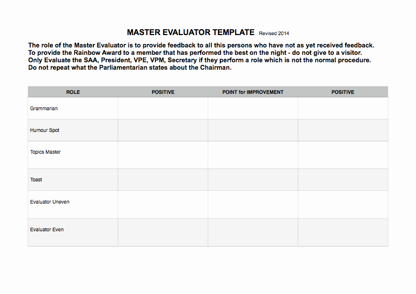 Hall Of Fame Certificate Template Inspirational Master Evaluator Template