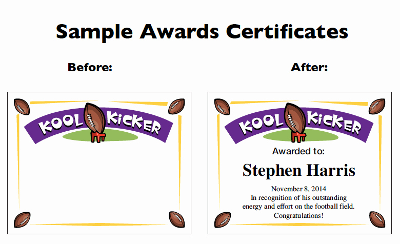 Hall Of Fame Certificate Template New Football Certificate Templates