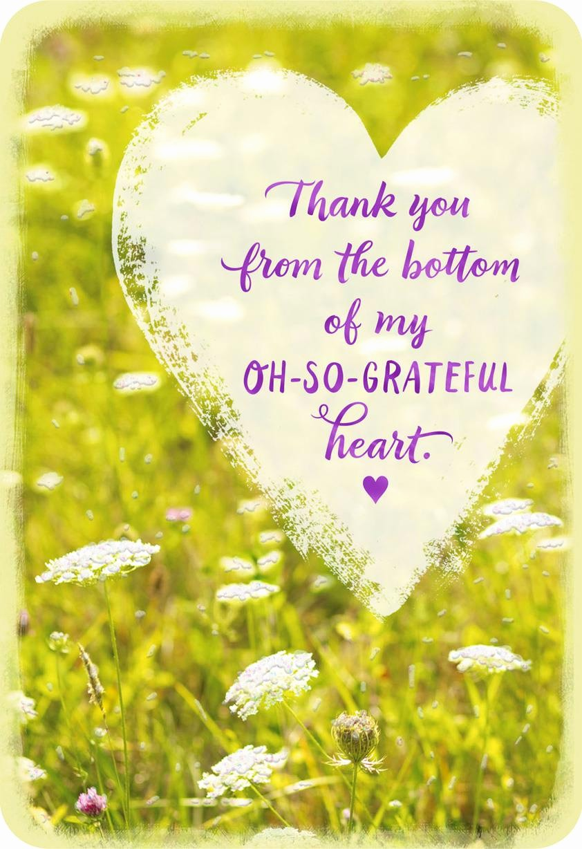 Hallmark Thank You Card Template Best Of From the Bottom Of My Heart Thank You Card Greeting