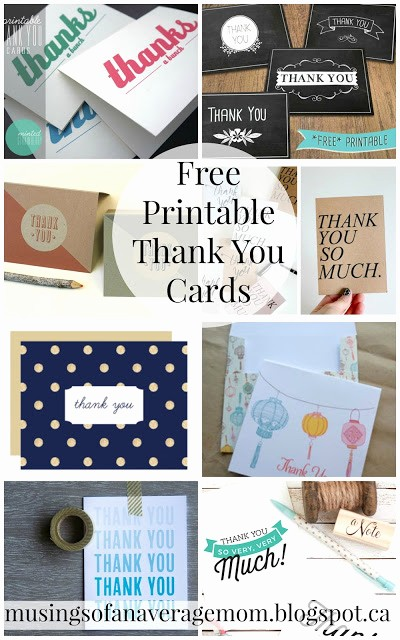 Hallmark Thank You Card Template Inspirational Musings Of An Average Mom Free Printable Thank You Cards