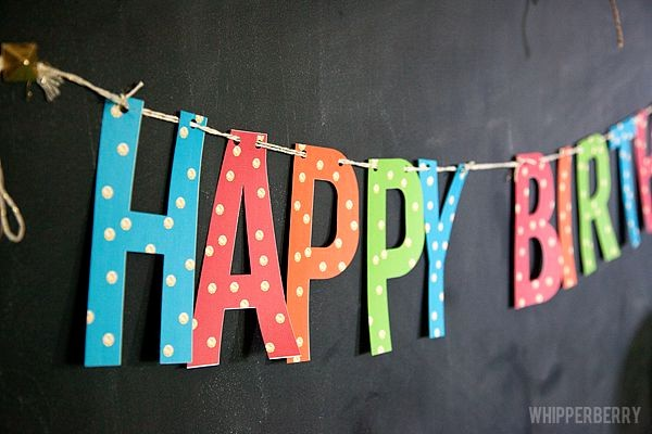 Happy Birthday Banner Print Out Beautiful Love This Free Printable Happy Birthday Banner