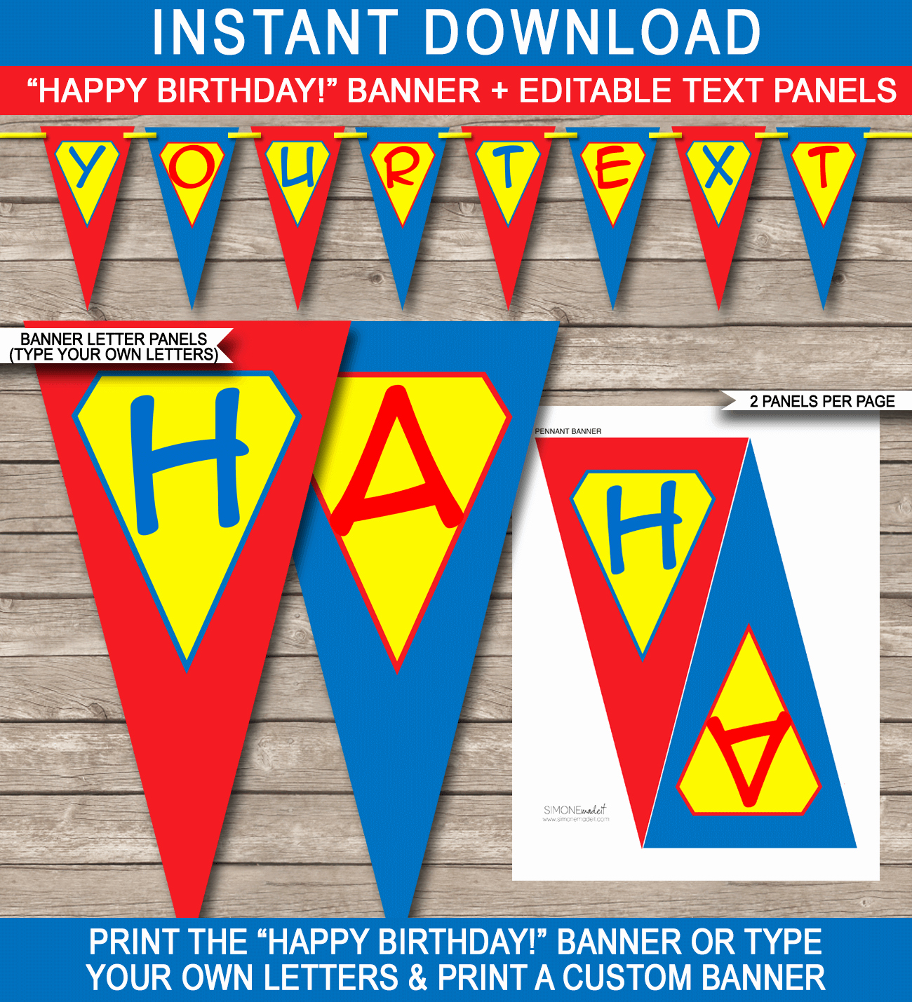 Happy Birthday Banner Print Out Best Of Superhero Party Banner Template