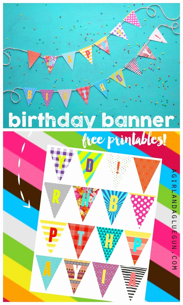Happy Birthday Banner Print Out Elegant Birthday Banner Printables