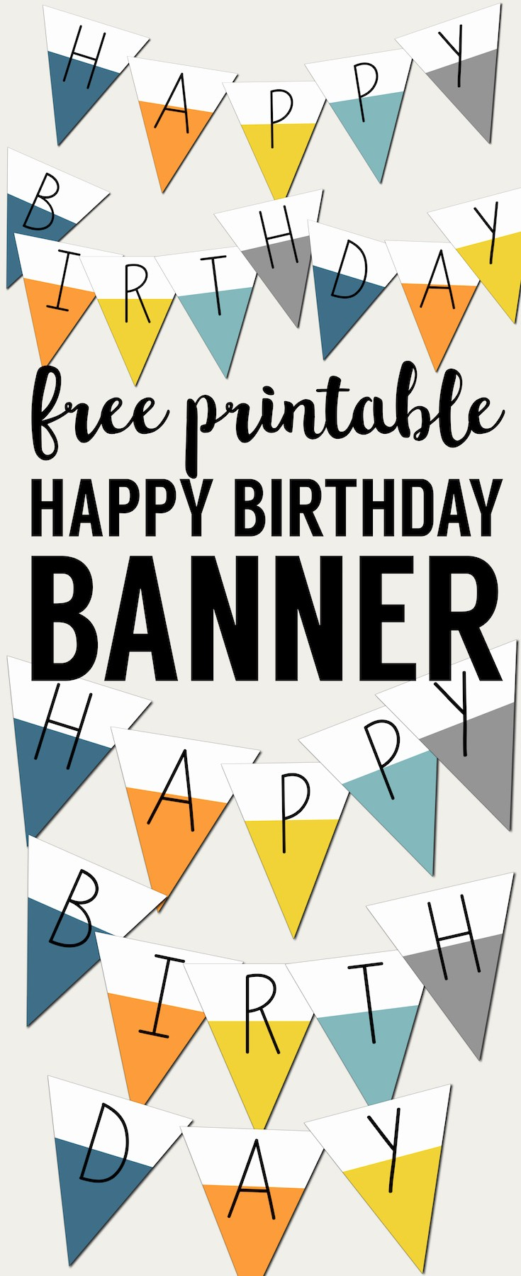 Happy Birthday Banner Print Out Lovely Free Printable Happy Birthday Banner Paper Trail Design