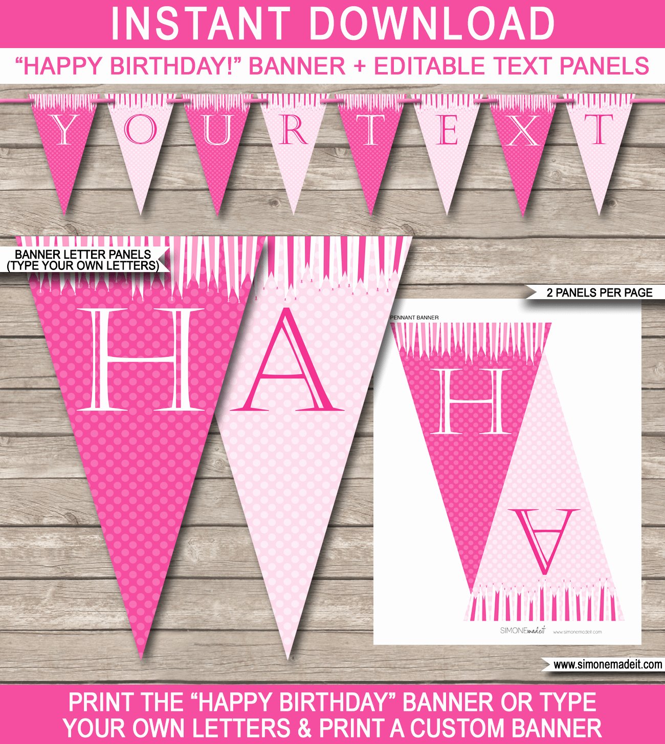 Happy Birthday Banner Print Out New Princess Party Banner Template