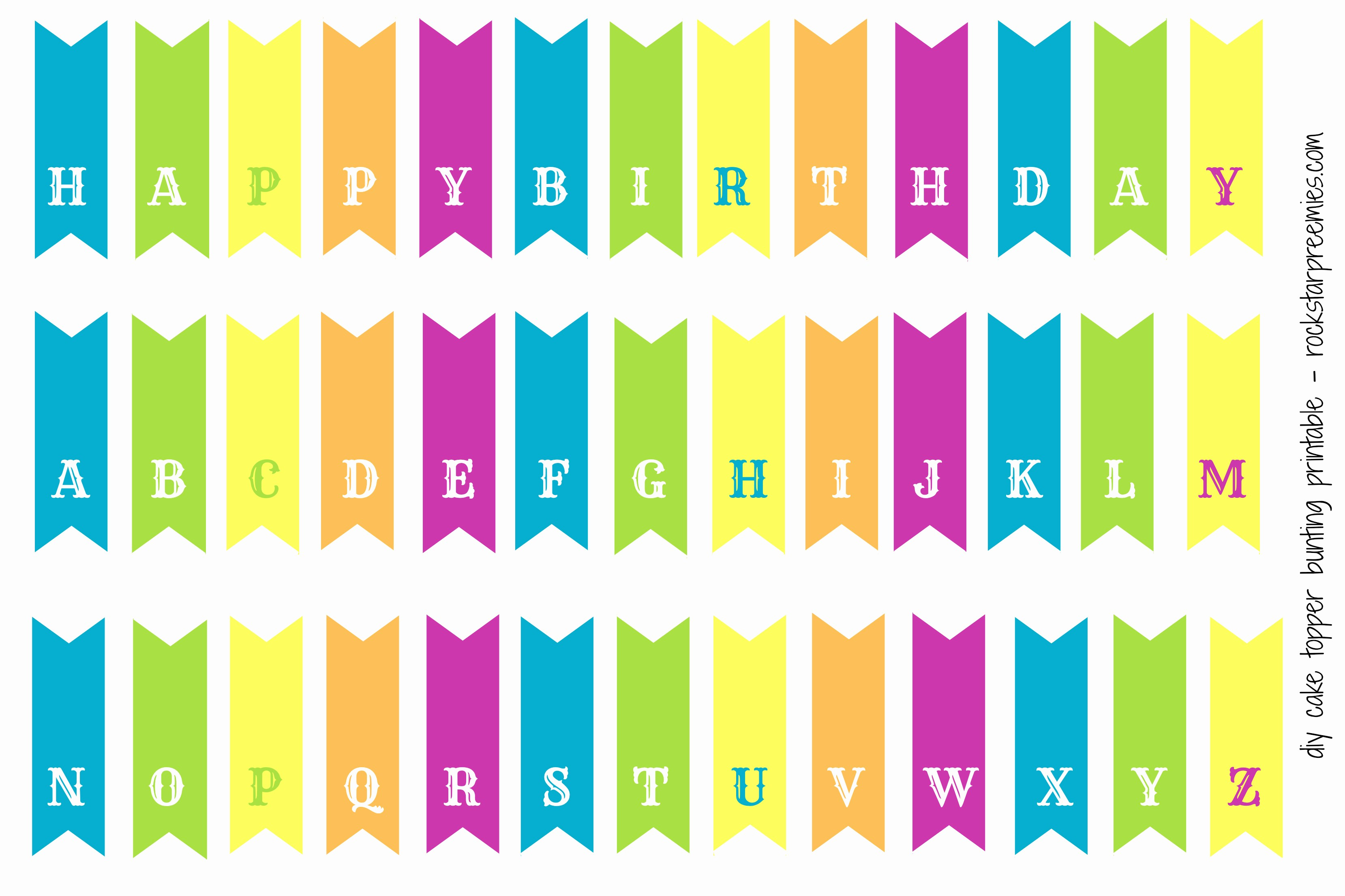 Happy Birthday Banner Print Out Unique Happy Birthday Bunting Printable Printable 360 Degree