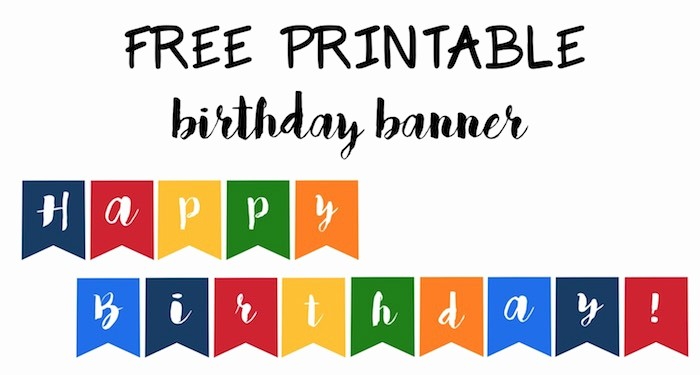 Happy Birthday Banner Template Printable Awesome Happy Birthday Banner Free Printable Paper Trail Design