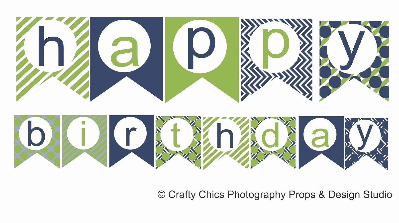 Happy Birthday Banner Template Printable Beautiful Happy Birthday Banner Template Printable