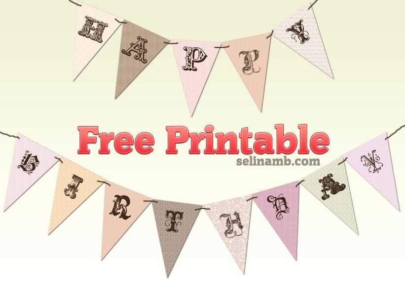 Happy Birthday Banner Template Printable Beautiful Pinterest