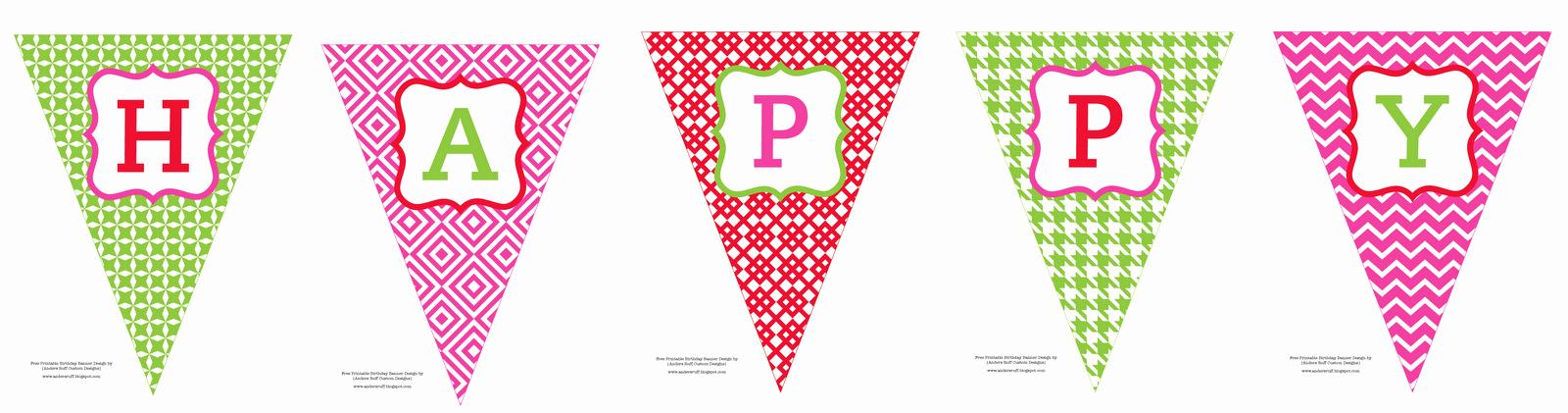 Happy Birthday Banner Template Printable Elegant Free Printable Happy Birthday Banner anders Ruff Custom